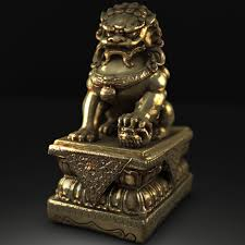 gold lion statues gold lion statue by christopher pierz realistic 3d cgsociety