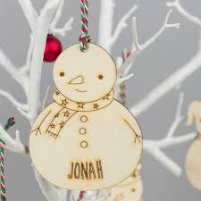 snowman family personalised decorations by we are sc