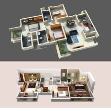 2d And 3d Design 2bhk