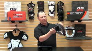 evs motocross helmet evs sports r3 race collar review youtube