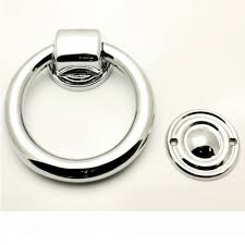 Modern Door Knockers Ring Shape Front Door Knocker Polished Chrome