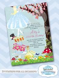Happy Birthday Invitation Cards Matter Alice In Wonderland Birthday Invitations Blueklip Com