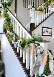 Christmas Banister Garland Beautiful Christmas Decorations That Turn Your Staircase Into A