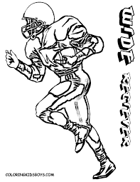 drawn football coloring page nfl pencil and in color drawn