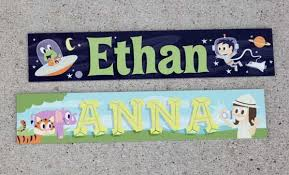 baby name plates custom wooden name sign nursery baby wedding