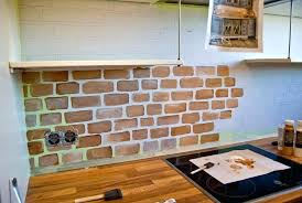 Kitchen Backsplash Brick Impressive Brick Kitchen Backsplash Reasons To Exposed Brick
