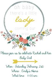 free baby shower invitation template and floral wreath clip art