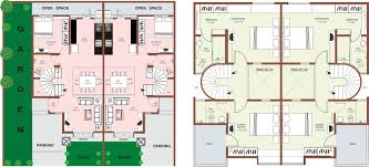 Multifamily Plans by Row House Plans Orchids Kovai Row Houses Floor Plans Narrow
