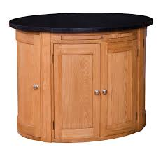 oval kitchen islands ingleton oak oval kitchen island with granite top code 112092