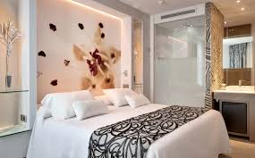 3d Wall Designs Bedroom Terrific Bedsheet Wall Design By Impressive Tile Lighting Decor