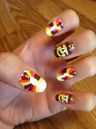 nail for thanksgiving curlyhaired nail designs thanksgiving minion nail tutorial