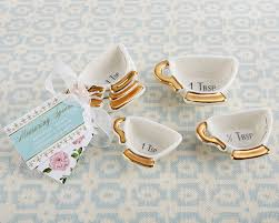 tea cup favors time whimsy ceramic teacup measuring spoon favors