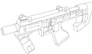 drawn gun halo pencil and in color drawn gun halo
