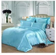 aqua silk bedding set green blue satin super king size queen full