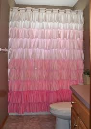 Ruffled Pink Curtains Ruffled Shower Curtain Shabby Chic Pink Ombre By Shadesupandco