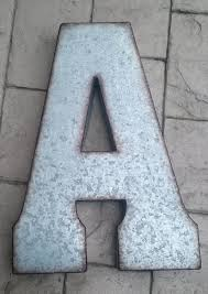 sale x large metal letter zinc steel initial home room decor zoom