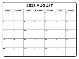 printable calendar 2018 august august 2018 printable baby decorative calendar free printable
