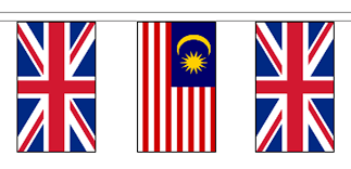 Malaysai Flag Malaysia U0026 United Kingdom 10m Friendship Flag Bunting