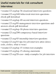 Consulting Resumes Examples by Top 8 Risk Consultant Resume Samples