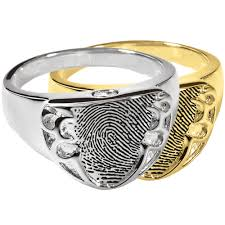 cremation jewelry rings wholesale fingerprint cremation jewelry shield ring fingerprint