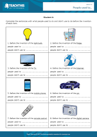 used to worksheets grammar activities and activities