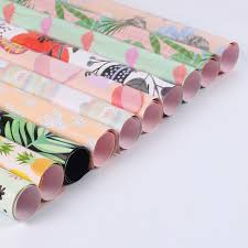 copper wrapping paper 10 sheets lot canvas wrapping paper flamingo paper flower