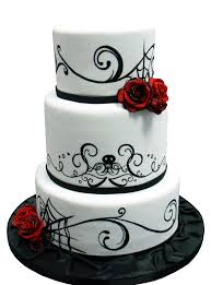 skull wedding cakes horror wedding cake occasional grue