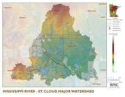 United States Mississippi River Map by Mississippi River St Cloud Minnesota Nutrient Data Portal