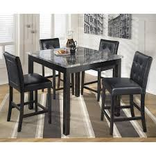 ashley furniture table and chairs ashley furniture maysville 5 piece square counter table set in black