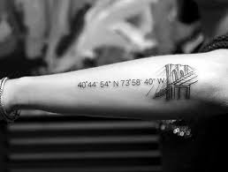 40 coordinates tattoo ideas to mark a memory on your body bored art