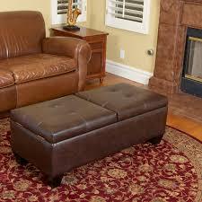 home loft concepts salas leather storage ottoman u0026 reviews wayfair