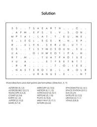 system and planets worksheet word search astronomy unit