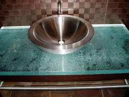 Glass Vanity Tops Fusion Glass Bathroom Vanity Top Custom Brookscustom