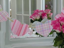 maison decor valentine banners and shabby chic fabric