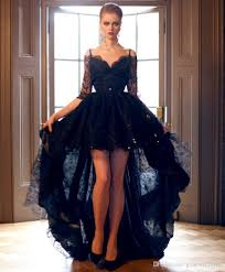 black lace wedding dresses high low black lace wedding dresses 2017 gown sweetheart