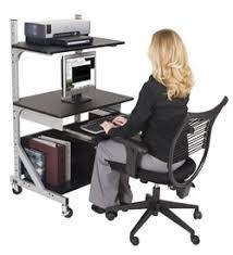 Adjustable Computer Desk Adjustable Shelf Sit Stand Workstation Ideal For Fixed Height