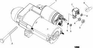 mercruiser 4 3l efi gen tbi gm 262 v 6 starter motor parts