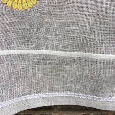 Embroidered Linen Curtains Sheer Linen Curtains Custom Curtain Sheer Linen Tie Up Ruffle
