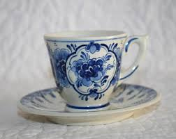 Seeking Teacup Delft Tea Cup Etsy