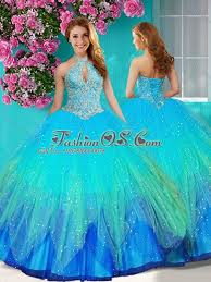 15 quinceanera dresses fashionable halter top rainbow 15 quinceanera dress with beading