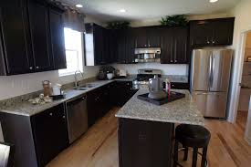 Kitchen Designs With Dark Cabinets Modern Kitchen Design With St Cecilia Granite Countertops White