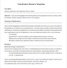 Combination Resume Sample by Glamorous Combination Resume Sample 11 Template 6 Free Samples