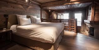 balustrade hôtel chalet de luxe megève le chalet zannier chambre