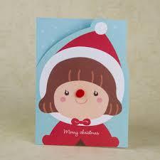 Christmas Invitation Cards Merry Christmas Card Cartoon Girls Reindeer Invitation Cards New