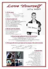 thanksgiving music worksheets 29 free esl justin bieber worksheets