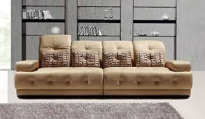 Fanelli Large Leather Sofa  Seater Delux Deco - 4 seat leather sofa