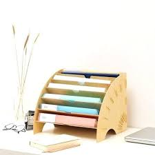 Wood Desk Accessories And Organizers Decorative Desk Organizer Creative Desktop File Holder Document