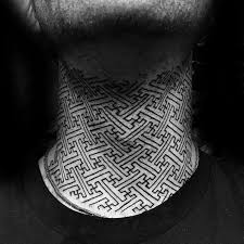 40 tribal neck tattoos for men manly ink ideas