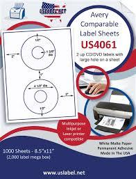 us4061 brand name comparable 5824 4 1 2 u0027 u0027 cd dvd label