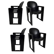 four leather dialogo dining arm chairs by afra and tobia scarpa